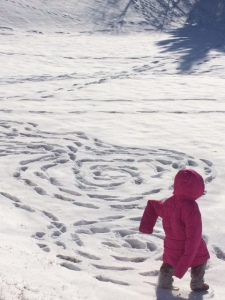 Spirals in the Snow