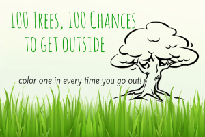 100 Trees, 100 Chances to Get Outside! Free Worksheet Download