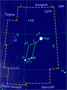 Lyra Constellation Map (creative commons use)