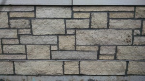 Approximately one quarter of the stonework has been complete.